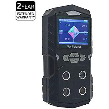 Amazon.com: Detector de gas portátil, clip de gas de 4 gas ...