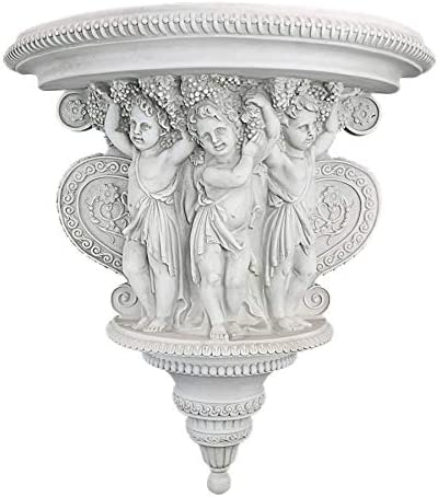 Design Toscano Cherubs of the Wine Harvest Sculptural Wall Console