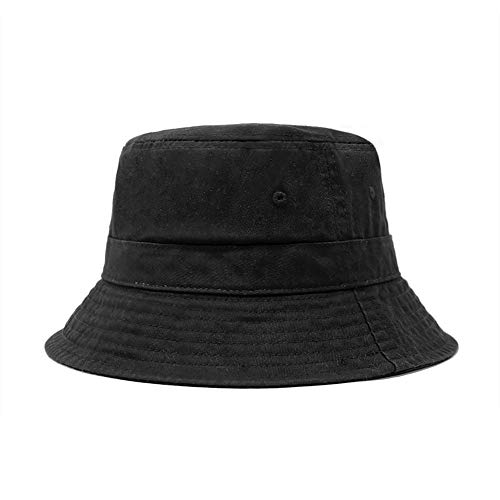 ChoKoLids Cotton Bucket Hat | Packable Summer Travel Hat | Fishing Hat | 7 Colors (Black)