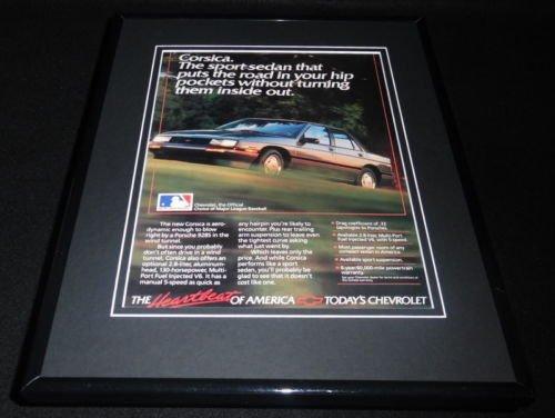 1988 Chevrolet Chevy Corsica 11x14 Framed ORIGINAL Vintage ()