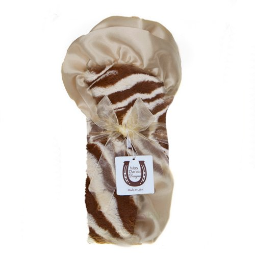 Max Daniel Baby Plush Print Security Blanket - Tan Zebra