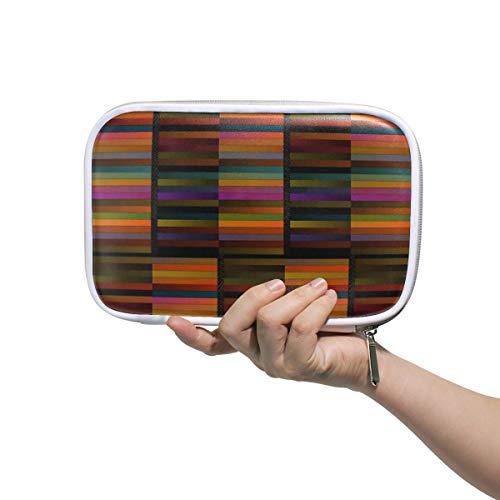 The Vibrance of Africa Pencil Case Holder Slot - Zipper Closure - Large Capacity Pen Organizer Portable Cosmetic Case