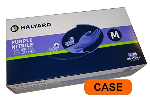 Halyard- Purple Nitrile Medical Exam Powder Free Gloves - CASE - Medium -  Kimberly-Clark, DG-KC500CS-M