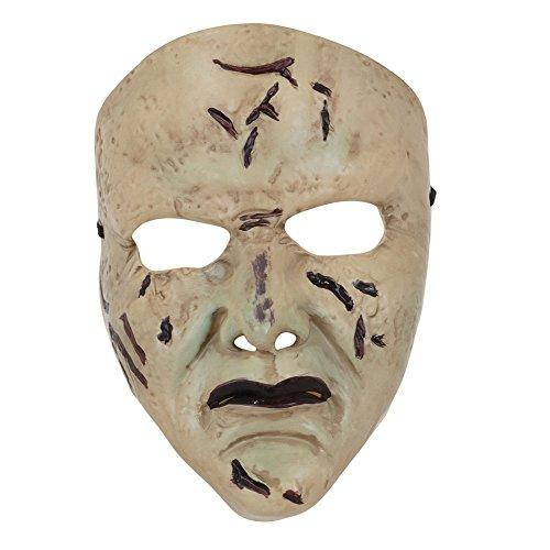 Bristol Novelty BM522 Horror Face Mask Pvc, Unisex-Adult, One Size