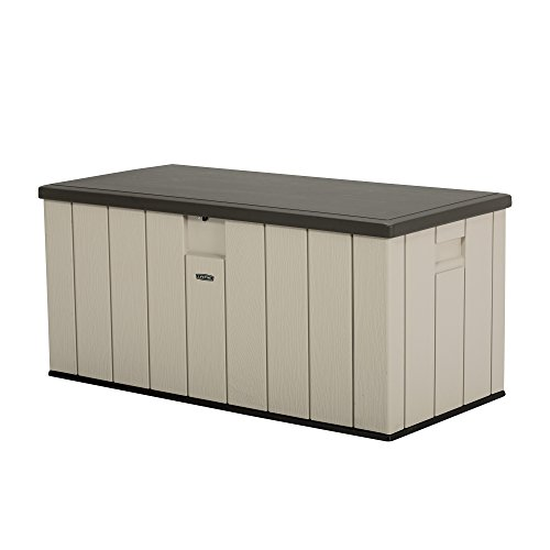 LIFETIME 60254 Heavy-Duty Outdoor Storage Deck Box, 150 Gallon, Desert Sand/Brown