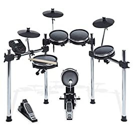 Alesis Surge Mesh Kit, Eight-Piece Electronic Drum Kit with Mesh Heads, 40 Kits, 385 Sounds, 60 Play-Along Tracks, USB…