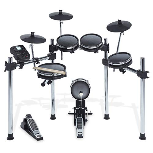 Alesis Surge Mesh Kit - Eight-Piece Electronic Drum Kit with Mesh Heads, Chrome Rack and Surge Drum Module including 40 Kits, 385 sounds, 60 Play Along Tracks and USB/MIDI -