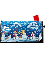 ATEDEANEI Christmas Mailbox Covers Winter Magnetic Wraps Post Box Cover Standard Size for Outdoor Garden Yard Decor 21x18 inch,Snowman