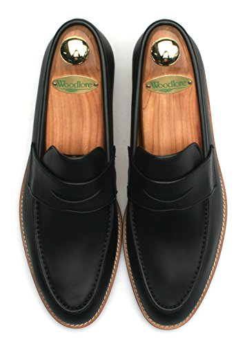 Penny Black Full on Atelier Firenze Men's Loafers Handmade Leather Slip Grain Loafers qnPYFU