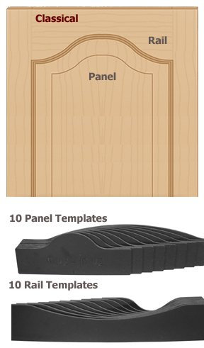 Template Panel Door Set (Classical Door Making Templates; 20-Pcs. Router Use Only)