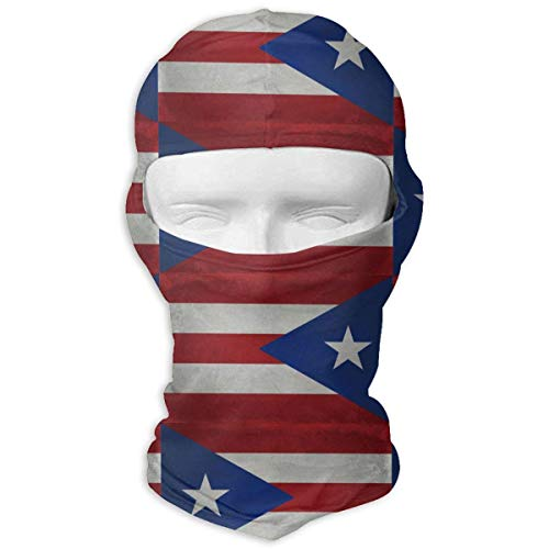Eieskpo Puerto Rico Flag Balaclava Face Mask Hood Outdoor Sport Hat for Ski,Cycling,Motorcycling,Climbing
