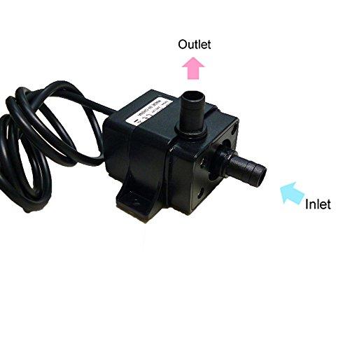 Anself Mini Wasserpumpe Tauchpumpe Pumpe 12 V elektrische Minipumpe für Brunnen Aquarium und Modellbau