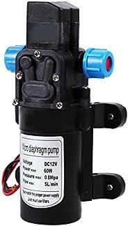 DC 12V Diaphragm Pump 60W, 5 L/Min 116 PSI Self Priming Pump with Pressure Switch Fresh Water Pressure Diaphra