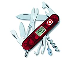 The Traveller Swiss Army Knife, with is altimeter, thermometer, barometer, alarm clock, and 18 additional tools, will become your trusted guide.