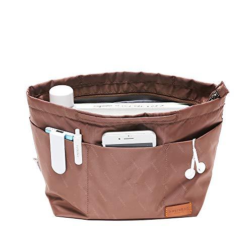 (IN Multi-Pocket Travel Handbag Organizer Insert Small for Tote bag Purse Liner Insert Organizer With Handles (Small,)