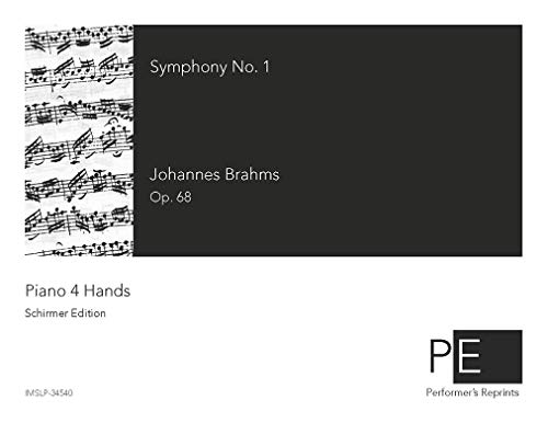 Symphony No.1 - For Piano 4 hands (Brahms) - Score