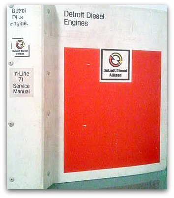 Detroit Diesel Series 71 In-Line Engine Service Manual (1983) ()