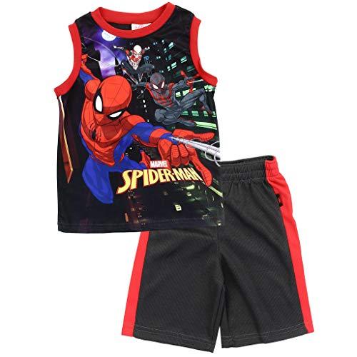 Spiderman Marvel Little Boys Sublimated Shorts Set, Black (5)]()