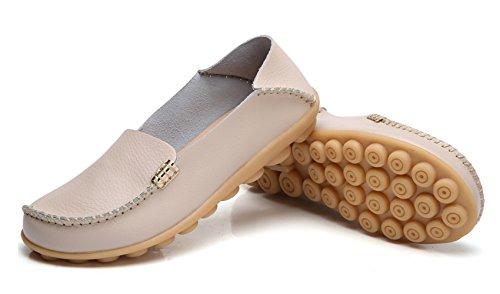 VenusCelia Womens Natural Comfort Walking Flat Loafer Beige EIE5GEu8mG