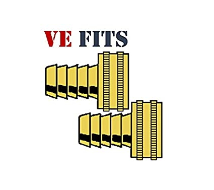 VE-FITS Brass Garden Hose Swivel Fitting Connector 2 Pieces 3//4 Inch Female Hose x 1//2 Inch Male Barb