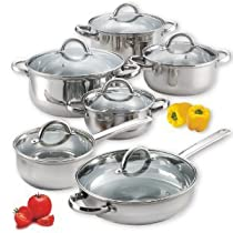 Premium Value Cook N Home 12-Piece Stainless Steel Set