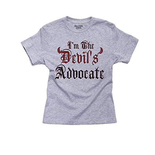 I'm The Devil's Advocate - With Fun Devil Horns Boy's Cotton Youth T-Shirt