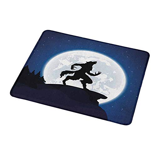 Art Mousepad Wolf,Full Moon Night Sky Growling Werewolf