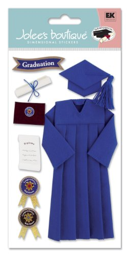 Jolee's Boutique Cap and Gown Stickers Blue