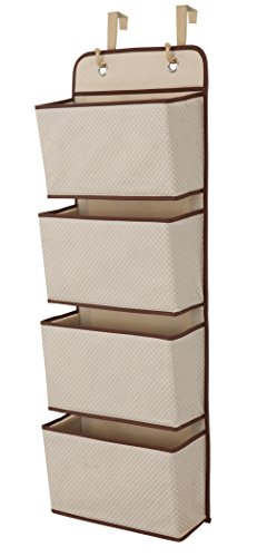 250 Pockets - Delta Children 4 Pocket Over The Door Hanging Organizer, Beige