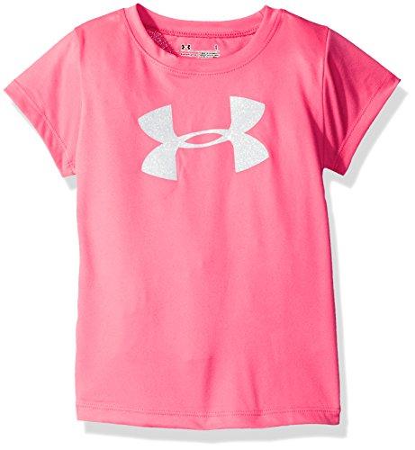 Under Armour Toddler Girls' Big Logo Short Sleeve Tee, Pink Punk, 4T