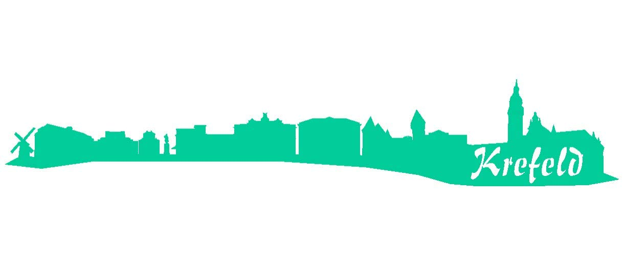Samunshi® Aufkleber Krefeld Skyline Skyline Skyline Autoaufkleber in 9 Größen und 25 Farben (140x25cm kupfermetalleffekt) B007JFPDU6 | Attraktiv Und Langlebig  9aa218
