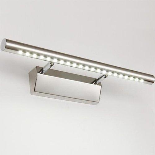 Dailyart® Winkel einstellbar Badezimmer Lampe 5w Edelstahl LED Wandleuchte Spiegellicht (Kühles weißes)
