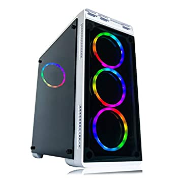 Image of Towers Gaming PC Desktop Computer White by Alarco Intel i5 3.10GHz,8GB Ram,1TB Hard Drive,Windows 10 pro,WiFi Ready,Video Card Nvidia GTX 650 1GB, 4 RGB Fans