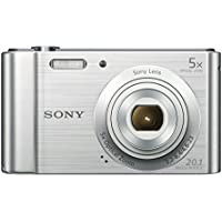 Sony DSCW800 Compact Digital Camera - Silver (20.1 MP, 5x Optical Zoom)