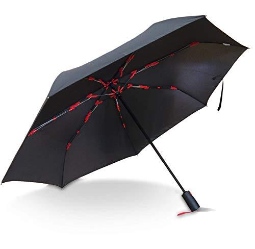 [해외]【 Amazon.co.jp 한정 】 마 브 접이식 우산 (자동 개폐) 망 블랙 × 레드 큰 58cm 경량 7 개의 뼈 360g 튼튼한 유리 섬유 (갱 구가 날아 하지 않는 안전 구조 뼈 채택) / [Amazon.co.jp Limite