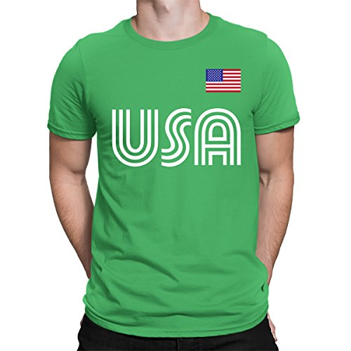 - SpiritForged Apparel United States Soccer Jersey Men's T-Shirt, Kelly Large