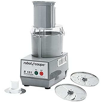 Robot Coupe R 101 Combination Cutter and Vegetable Slicer with 2.5 qt. Gray Polycarbonate Bowl - 120V