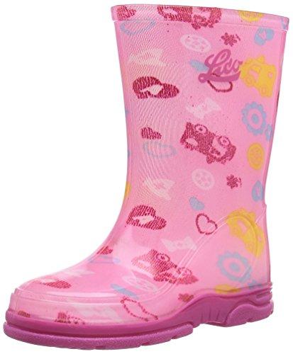 Lico Splashy Mädchen Halbschaft Gummistiefel Pink (Pink)