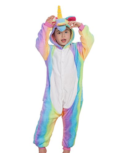 Kids Unisex Animal Onesies Costumes Halloween Carnival Unicorn One Piece Pajamas