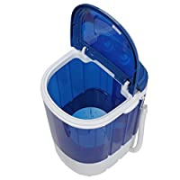 SUPER DEAL Mini Washing Machine Compact Counter Top Washer with Spin Cycle Basket and Drain Hose