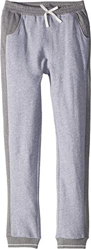 Girls Terry Pants French - Splendid Girls' Big Two Tone French Terry Jogger, Light Gray Heather 14