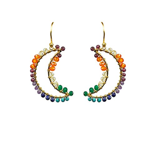 Chakra Moon Vermeil Earrings