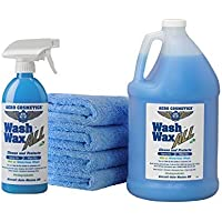 $37 » Wet or Waterless Car Wash Wax Kit 144 Ounces. Aircraft Quality for Your Car, RV, Boat,…