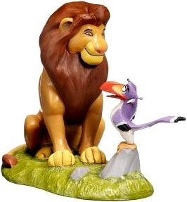 Disney The Lion King Exclusive 3 Inch Pvc Loose Figurine Mufasa With Zazu