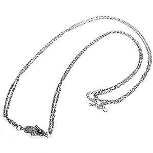 GleaderWomen Silver Tone Alloy Bikini Waist Belly Body Chain Link Necklace Fashion