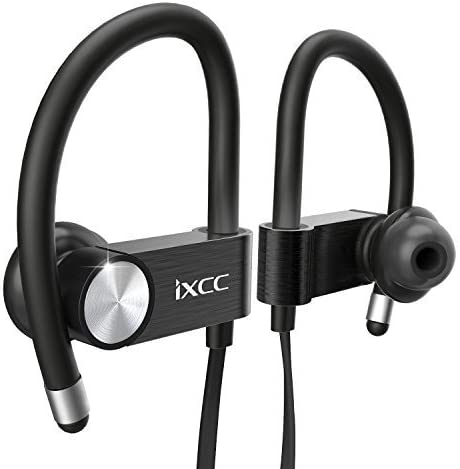 Amazon Com Ixcc Bluetooth Headphones Metal Wireless Sports Earphones With Mic Apt X Stereo V4 1 Multi Point Pairing Noise Cancellation Sweatproof Earbuds For Workout 8 Hours Battery Headsets Black