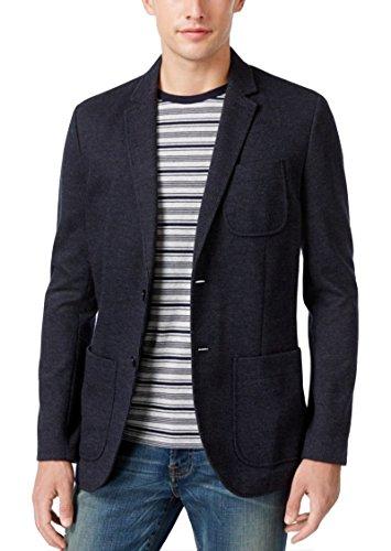 Tommy Hilfiger Mens Pinstripe Two Button Sport Coat Blue XL