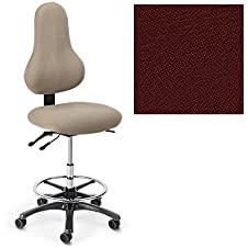 Office Master Discovery Collection DB56 Ergonomic Pear-Shaped backrest Chair - No Armrests - Grade 1 Fabric - Spice Paprika Red 1167 PLUS Free Ergonomics eBook