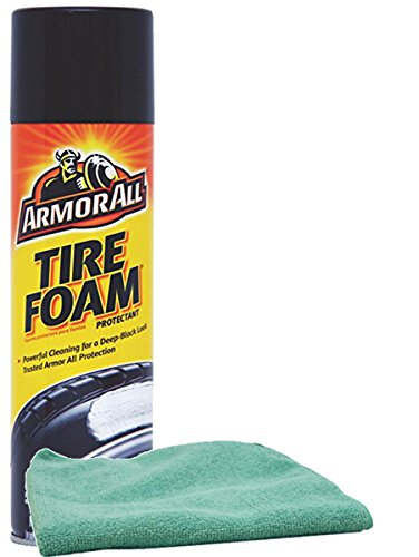 Armor All Tire Foam Protectant (20 oz.), Bundled with a Microfiber Cloth (2 ()