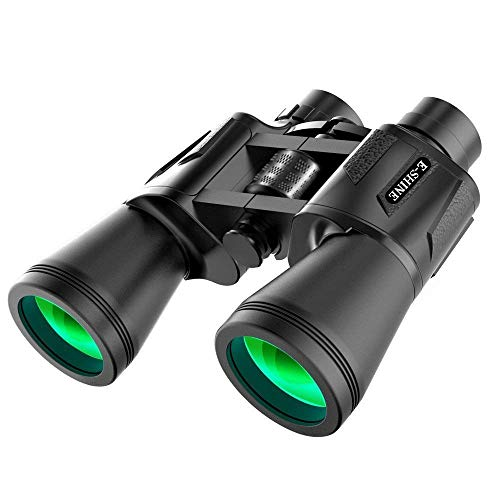 Binoculars for Adults Bird Watching, The E-Shine 10x50 High-Powered Surveillance Binocular HD Binoculars Compact for Easy Focus for Travelling, Hunting, Sports, Concert (Best Binoculars For Surveillance)